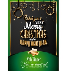 New Year and Happy Christmas background vector image