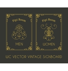 Male and female restroom signboard vector