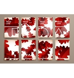 Set of brochure poster design templates in autumn vector