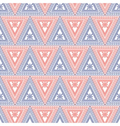 Seamless pattern symmetrical geometric background vector
