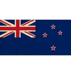 New Zealand paper flag vector image