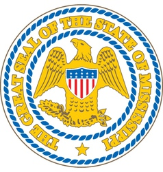 Mississippi Seal vector image