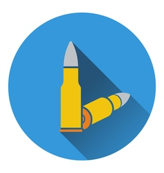 Icon of rifle ammo vector