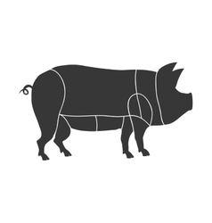 Pig icon animal silhouette design graphic vector
