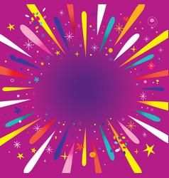burst explosion vector image vector image