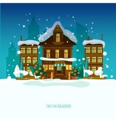 Christmas snow vector image