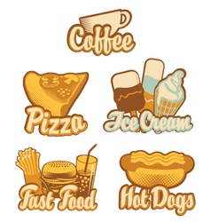 coffee and fast food vector image