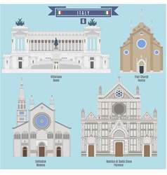 Famous Places in Italy vector image vector image