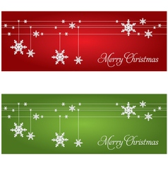 Festive Christmas banners vector image