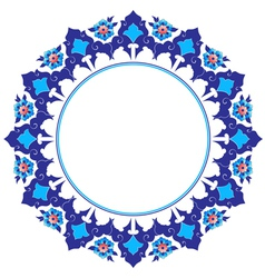 Frame with flowers of ottoman art vector