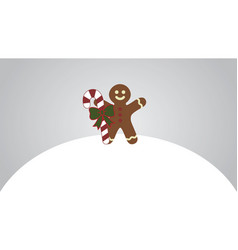 Gingerbread man vector