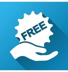 Give free sticker gradient square icon vector