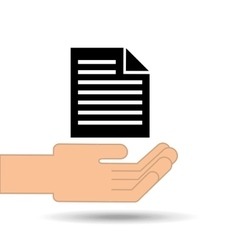 Hand holding paper file graphic vector