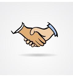 Handshake sketch symbol vector image