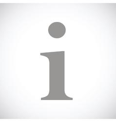 Info black icon vector