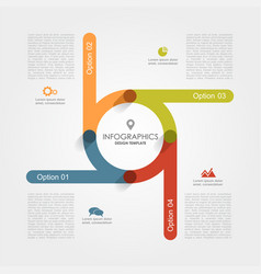 infographic template can be used for workflow vector image vector image