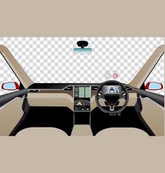 Interior of self driving car vector