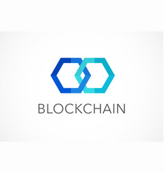 Logo concept for blockchain and fintech industry vector