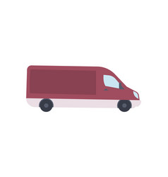 modern van truck side view icon vector image vector image