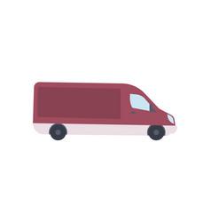 modern van truck side view icon vector image vector image
