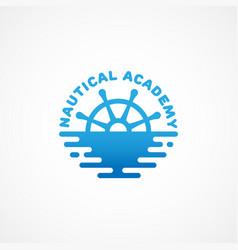 nautical academy logo vector image