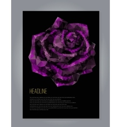 R with black and purple rose vector