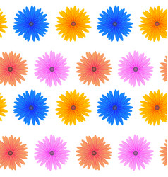 seamless colorful flower pattern vector image