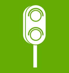 Semaphore trafficlight icon green vector