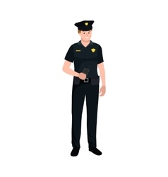 Serve and protect Police man officer male vector image vector image