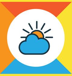 solar colorful outline symbol premium quality vector image