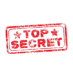 Top secret red stamp vector image