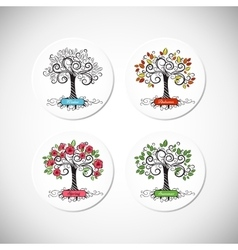 Tree seasons vector