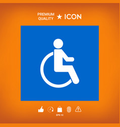 Wheelchair handicap icon vector