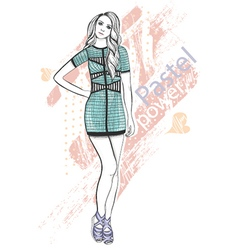 Young girl fashion vector image