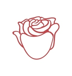 Rose flower icon nature and garden concept vector