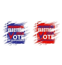 Usa presidential election poster brush strokes vector