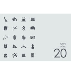 Set of sewing icons vector image