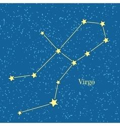 Virgo zodiac symbol on background of cosmic sky vector
