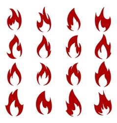 Collection of flames vector