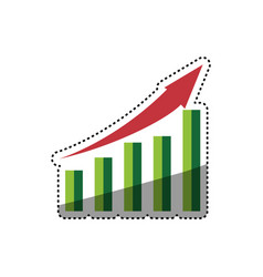 Statistic bars growing vector