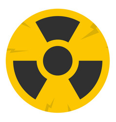 Nuclear sign icon isolated vector