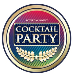 Cocktail party exotic label vector
