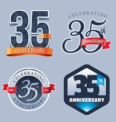 35 Years Anniversary Logo vector image