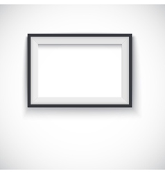 Picture wood frame horizontal  for image vector