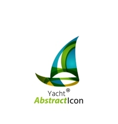 Abstract geometric business corporate emblem vector