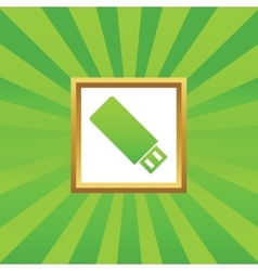Usb stick picture icon vector