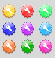 Key sign icon unlock tool symbol symbols on nine vector