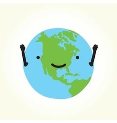 Happy planet earth vector