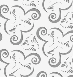 Perforated flourish with spirals vector