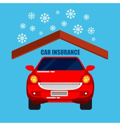 Car insurance car protection safety life vector